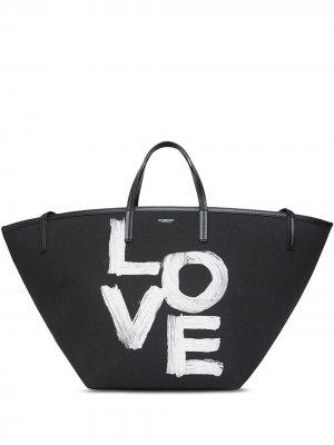 Пляжная сумка-тоут с принтом Burberry. Цвет: черный