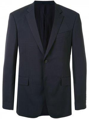 Однобортный пиджак строгого кроя Kent & Curwen. Цвет: синий