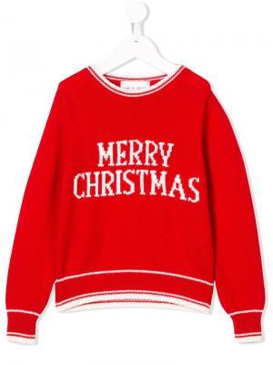 Свитер Merry Christmas Alberta Ferretti Kids. Цвет: красный