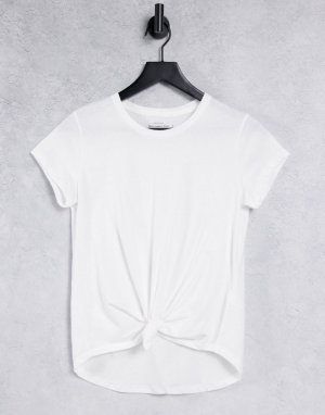 Рубашка белого цвета с завязкой спереди -Многоцветный Abercrombie & Fitch