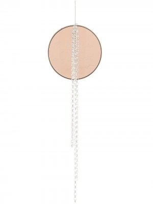 Серьга с подвеской Detaj. Цвет: коричневый