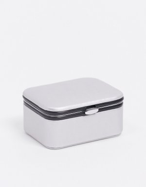 Серебристая шкатулка для украшений -Серебристый SVNX