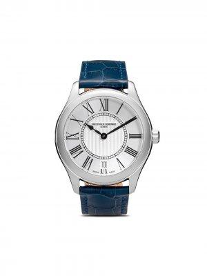Наручные часы с римскими цифрами Frédérique Constant. Цвет: белый