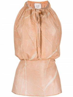 Приталенная блузка без рукавов Alysi. Цвет: нейтральные цвета