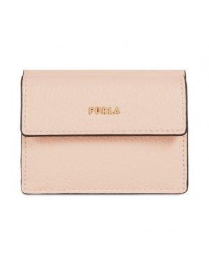 Бумажник FURLA. Цвет: светло-розовый
