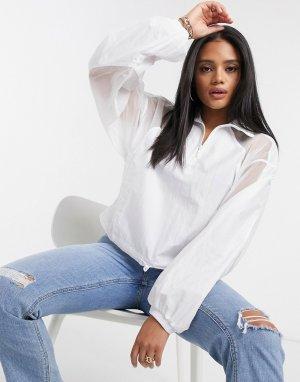 Белый сетчатый пуловер Fakten adidas Originals
