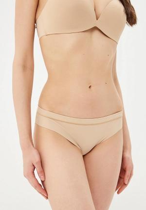 Трусы Calvin Klein Underwear. Цвет: бежевый
