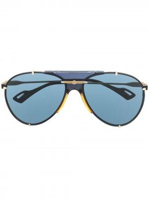 Солнцезащитные GG0740S Gucci Eyewear. Цвет: золотистый