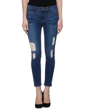 Джинсовые брюки-капри FRAME DENIM. Цвет: синий