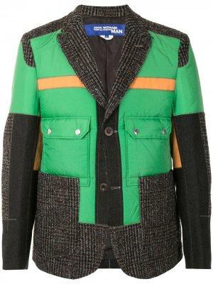Contrast padded jacket Junya Watanabe MAN. Цвет: зеленый