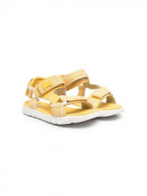 Сандалии на липучках с логотипом Camper Kids. Цвет: желтый