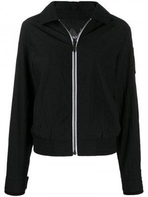 Куртка-бомбер с контрастной молнией Moose Knuckles. Цвет: черный