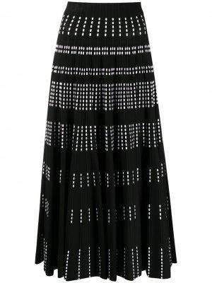 Плиссированная юбка А-силуэта с завышенной талией Antonino Valenti. Цвет: черный