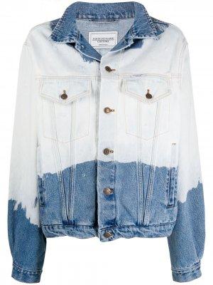 Двухцветная джинсовая куртка Forte Dei Marmi Couture. Цвет: синий