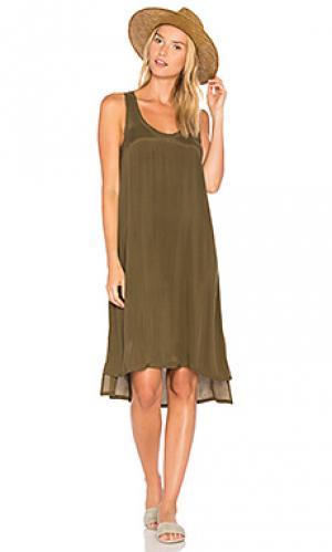 Платье-майка azawood American Vintage. Цвет: военный стиль