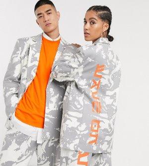 Oversized-пиджак с принтом COLLUSION Unisex-Мульти