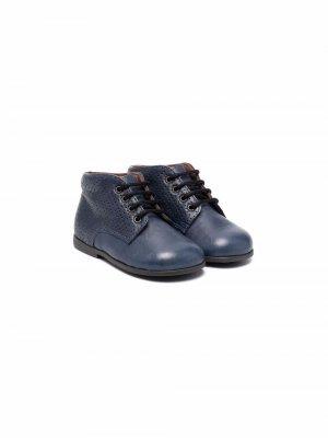 Ботинки на шнуровке Pèpè. Цвет: синий