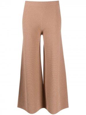 Расклешенные брюки с блестками D.Exterior. Цвет: нейтральные цвета
