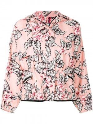 Floral printed bomber jacket Moncler. Цвет: розовый