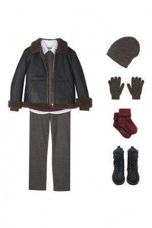 Шерстяной пуловер Bonpoint. Цвет: коричневый