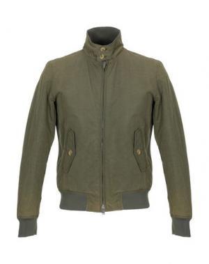 Куртка BARACUTA. Цвет: зеленый-милитари