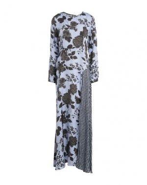 Длинное платье JUCCA. Цвет: пастельно-синий