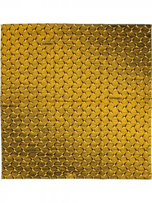 Бандана с узором Supreme. Цвет: желтый