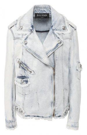 Джинсовая куртка Balmain. Цвет: белый