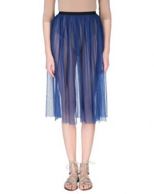 Юбка длиной 3/4 ALISA. Цвет: синий