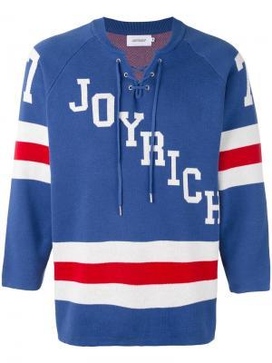 Джемпер в хоккейном стиле Joyrich. Цвет: синий