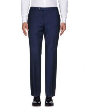 Повседневные брюки BROOKS BROTHERS. Цвет: темно-синий