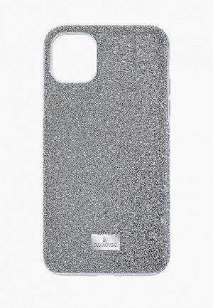Чехол для iPhone Swarovski® 12 mini. Цвет: серебряный