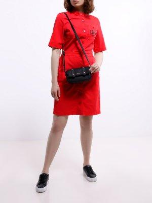 Платье Love Moschino. Цвет: krasnyy