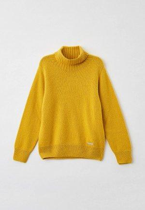 Свитер Norveg Cashmere&Merino blend. Цвет: желтый