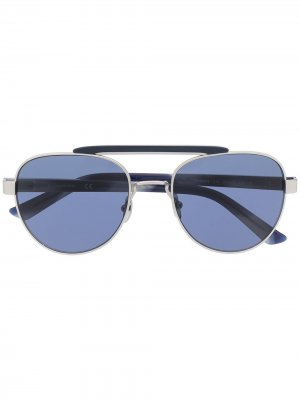 Солнцезащитные очки CK19306S в круглой оправе Calvin Klein. Цвет: синий