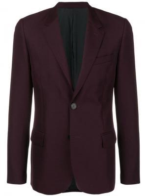 Пиджак на двух пуговицах с подкладкой AMI Paris. Цвет: розовый