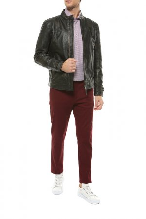 Кожаная куртка Joop. Цвет: черный