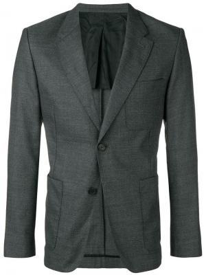 Пиджак на двух пуговицах с частичной подкладкой AMI Paris. Цвет: серый