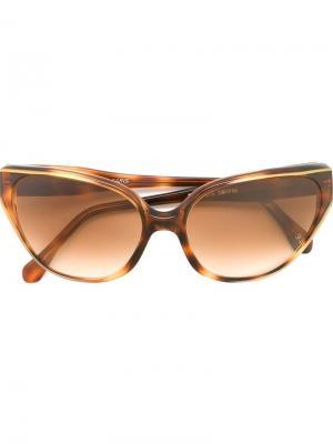 Солнцезащитные очки с оправой кошачий глаз Yves Saint Laurent Pre-Owned. Цвет: коричневый