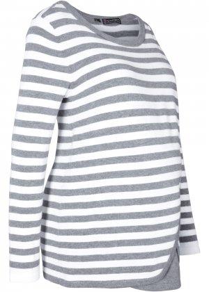 Пуловер для кормящих мам bonprix. Цвет: серый