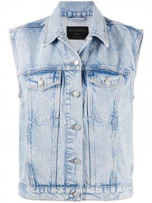 Джинсовая куртка без рукавов AllSaints. Цвет: синий