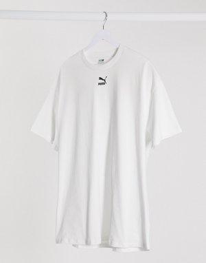 Белое платье-футболка с логотипом -Белый Puma