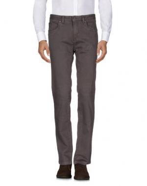 Повседневные брюки ERIC HATTON. Цвет: темно-коричневый