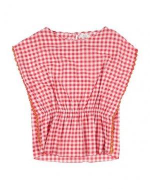 Блузка BISOUS. Цвет: красный