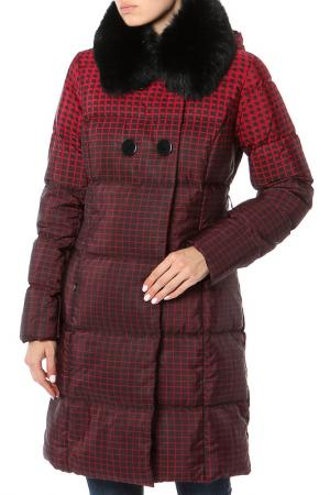 Пальто стеганое Lawine. Цвет: красный