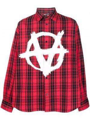 Рубашка Anarchy в клетку VETEMENTS. Цвет: красный