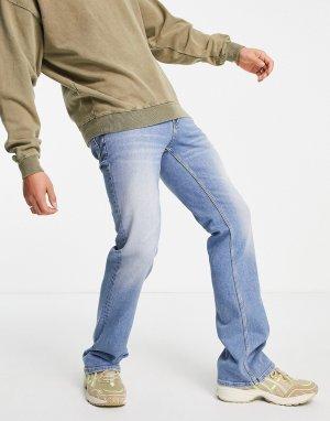 Сине-голубые расклешенные джинсы -Голубой ASOS DESIGN