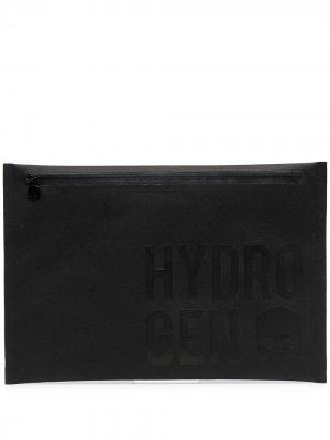 Клатч с логотипом Hydrogen. Цвет: черный