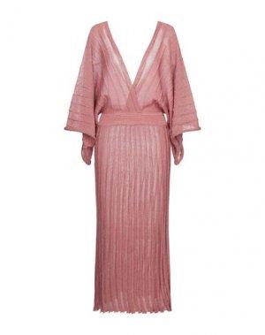 Длинное платье DIXIE. Цвет: коралловый