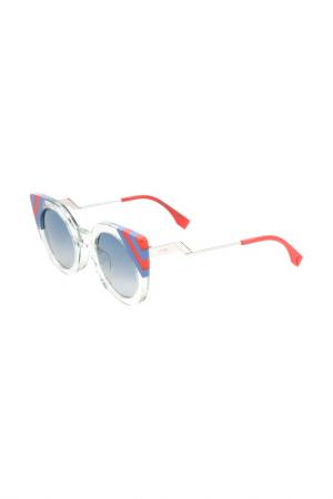 Очки солнцезащитные Fendi. Цвет: зеленый